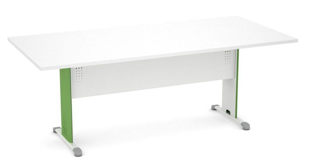 Mesa Reunião Retangular de 25 mm com Pés de Aço de 200 x 90 - Arena  - Tinay Móveis Ltda