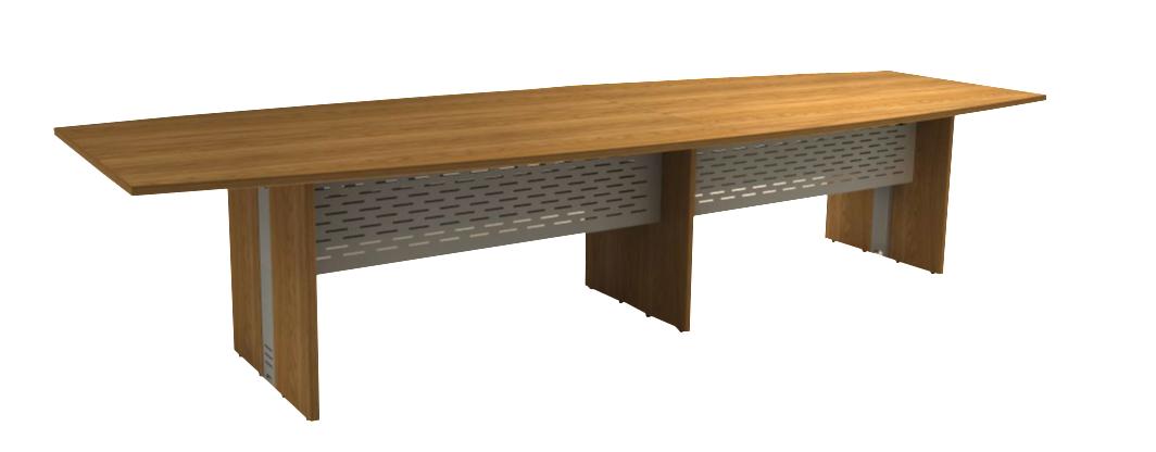 Mesa Reunião Semi-Oval Bipartida de 25 mm - Saia de Aço - Attuale  - Tinay Móveis Ltda