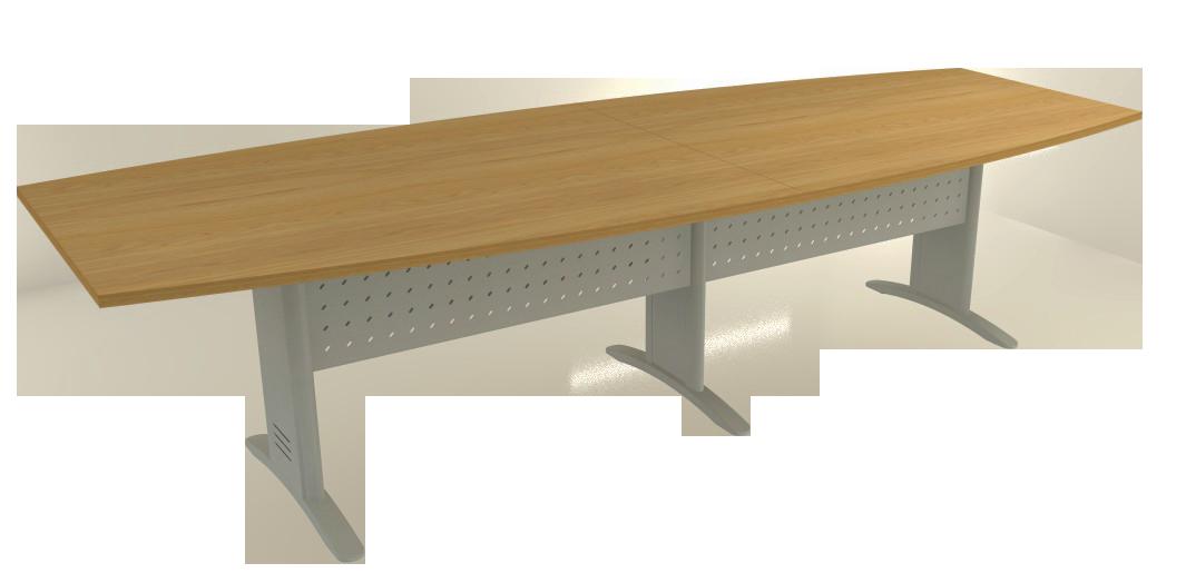 Mesa Reunião Semi-Oval Bipartida de 25 mm - Saia de Aço - Impéria Premium  - Tinay Móveis Ltda
