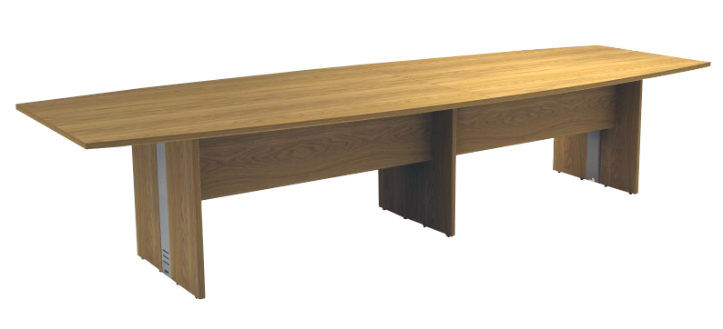 Mesa Reunião Semi-Oval Bipartida de 25 mm - Saia de Madeira - Attuale  - Tinay Móveis Ltda