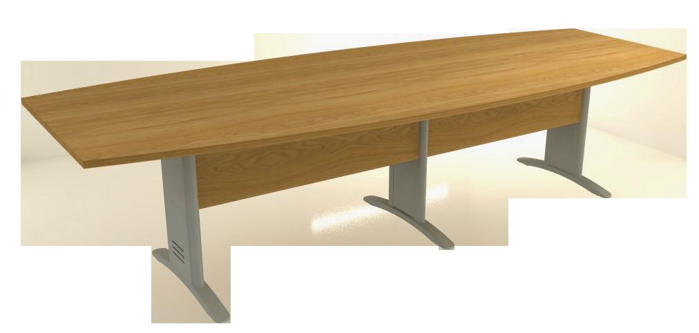 Mesa Reunião Semi-Oval Bipartida de 25 mm - Saia de Madeira - Impéria Premium  - Tinay Móveis Ltda