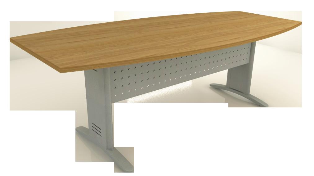 Mesa Reunião Semi-Oval de 25 mm - Saia de Aço - Impéria Premium  - Tinay Móveis Ltda