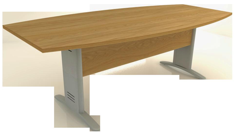 Mesa Reunião Semi-Oval de 25 mm - Saia de Madeira - Impéria Premium  - Tinay Móveis Ltda