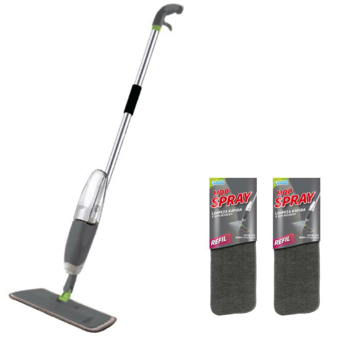 06 Kits de Spray Mop com 1 Refil extra cada