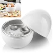 Recipiente em forma de OVO para cozinhar ovos no Microondas - 4 ovos