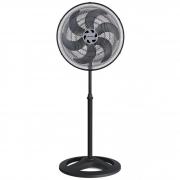Ventilador de coluna Ventisol Turbo 6P preto com 6 pás, 40cm de diâmetro 127V