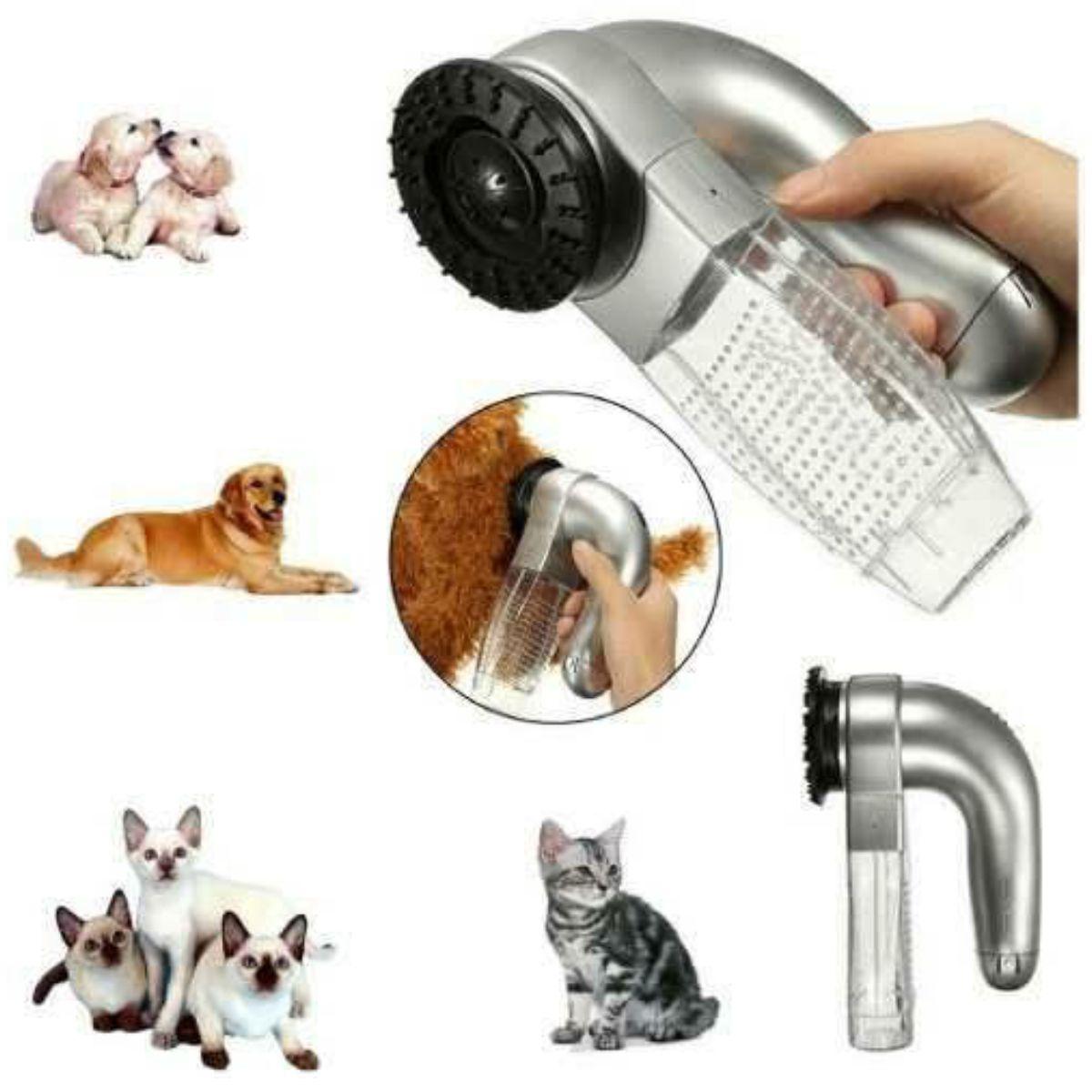 Aspirador de Pelo portátil para Pet cão e gato Shed Pal