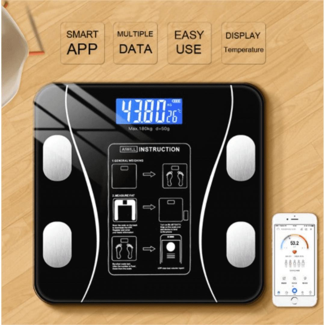 Balança Eletrônica com Bioimpedância, Bluetooth e Aplicativo