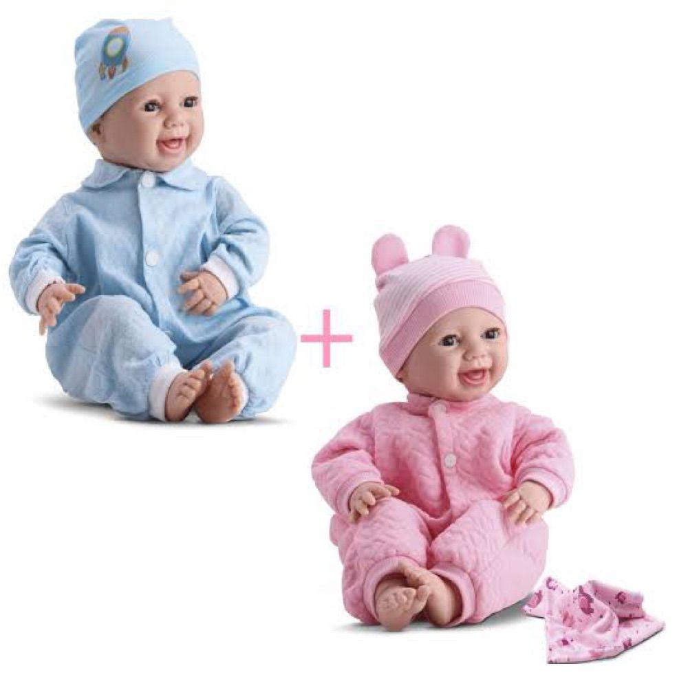 Bebe Reborn Menino e Menina Soninho com Mantinha