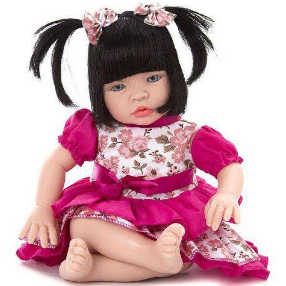 Bebê Reborn Realista Baby Kiss Morena - Chora e Balbucia igual um Bebê