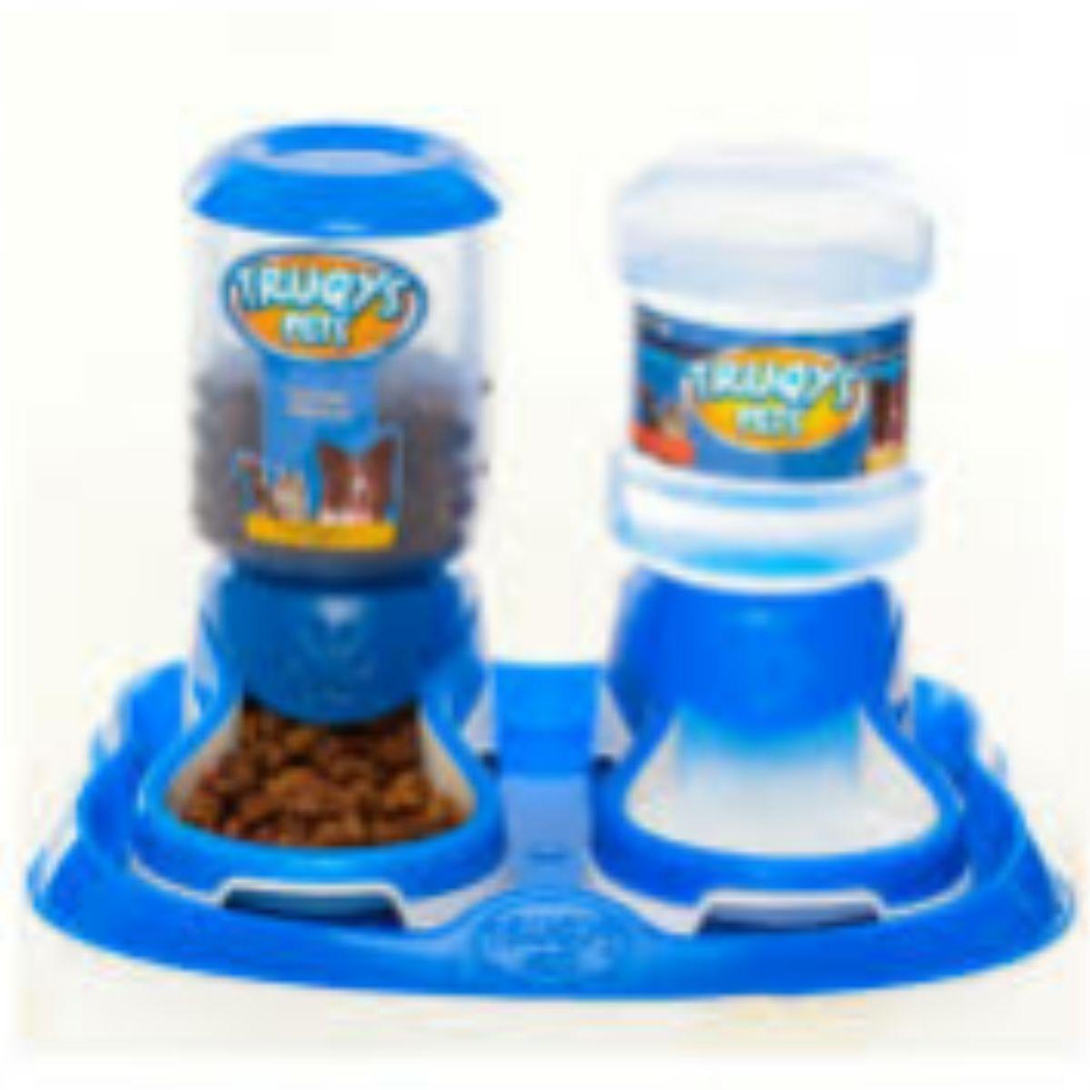 Bebedor e comedor automático PET Cães e Gatos  AZUL