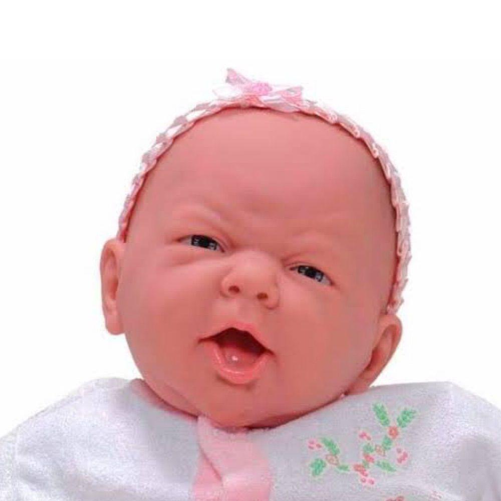Boneca Bebê Reborn Realista Coleção NINOS - 50cm - Menina Branca c/ Som e peso igual de Neném