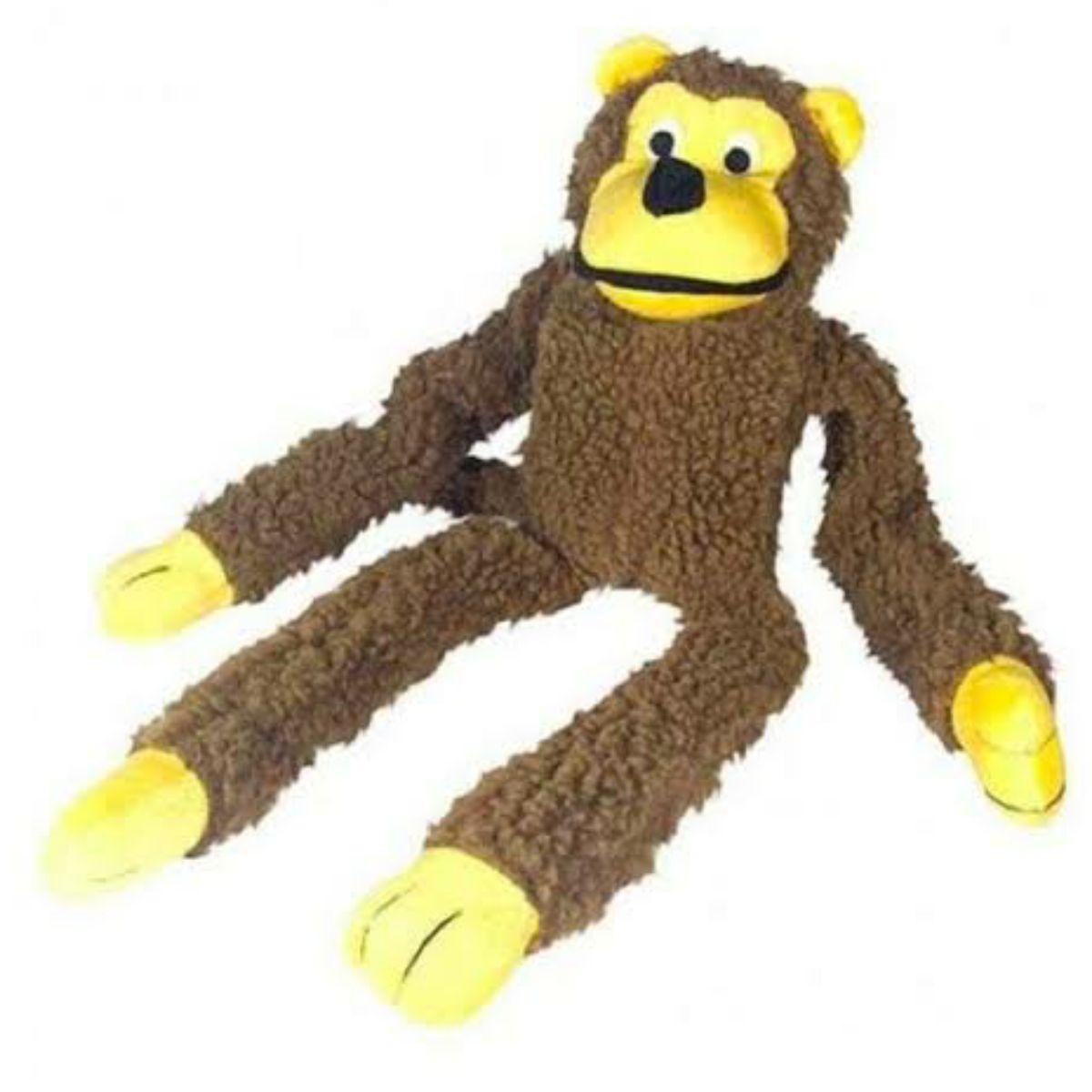 Brinquedo Pet Pelucia com Apito Macaco - Grande