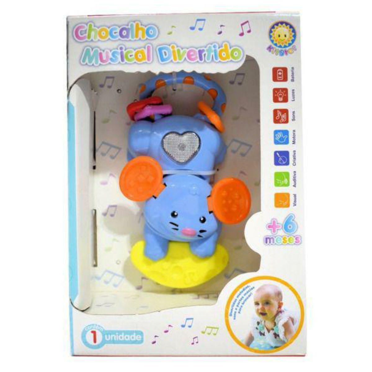 Chocalho Musical Divertido - Ratinho