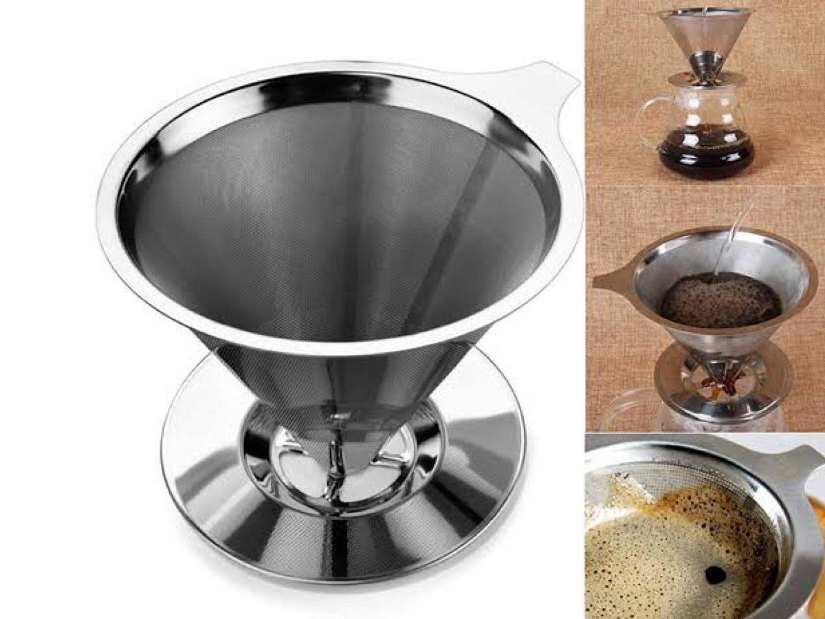 Coador Filtro Café Aço Inox Reutilizável - Original - TAM 101(P)