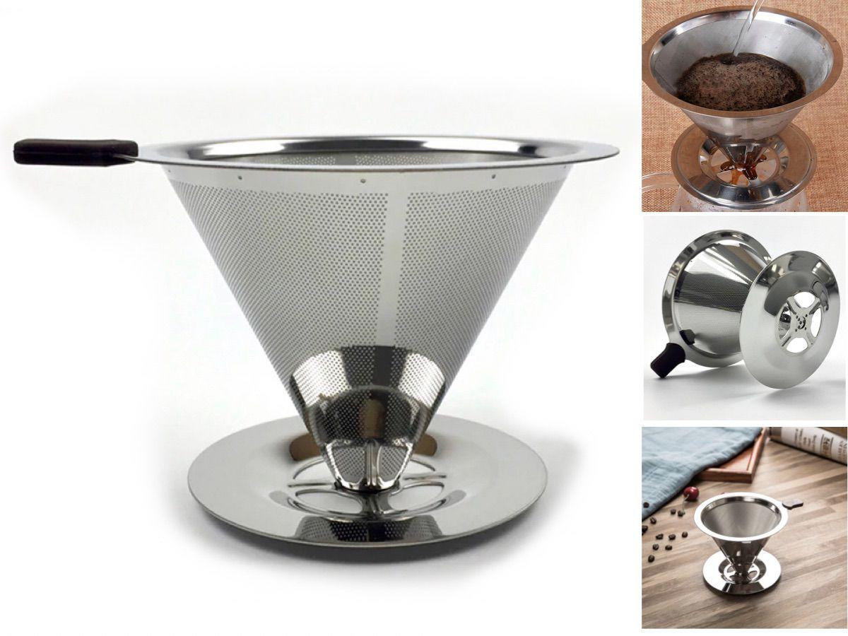 Coador Filtro Café Aço Inox Reutilizável - Original - TAM 102(M)