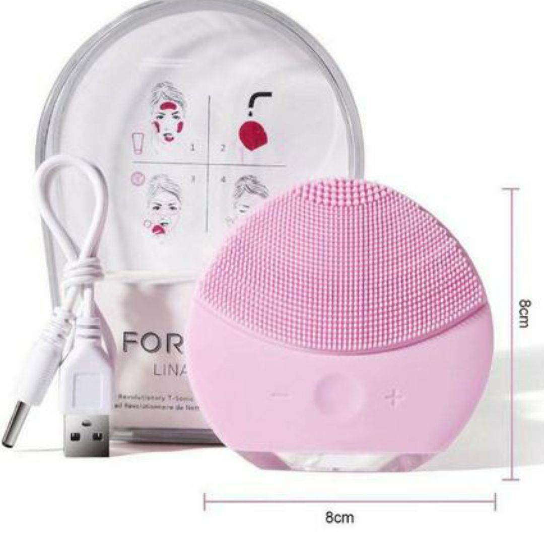 Esponja Elétrica Massagem Limpeza Facial Escova Recarregável