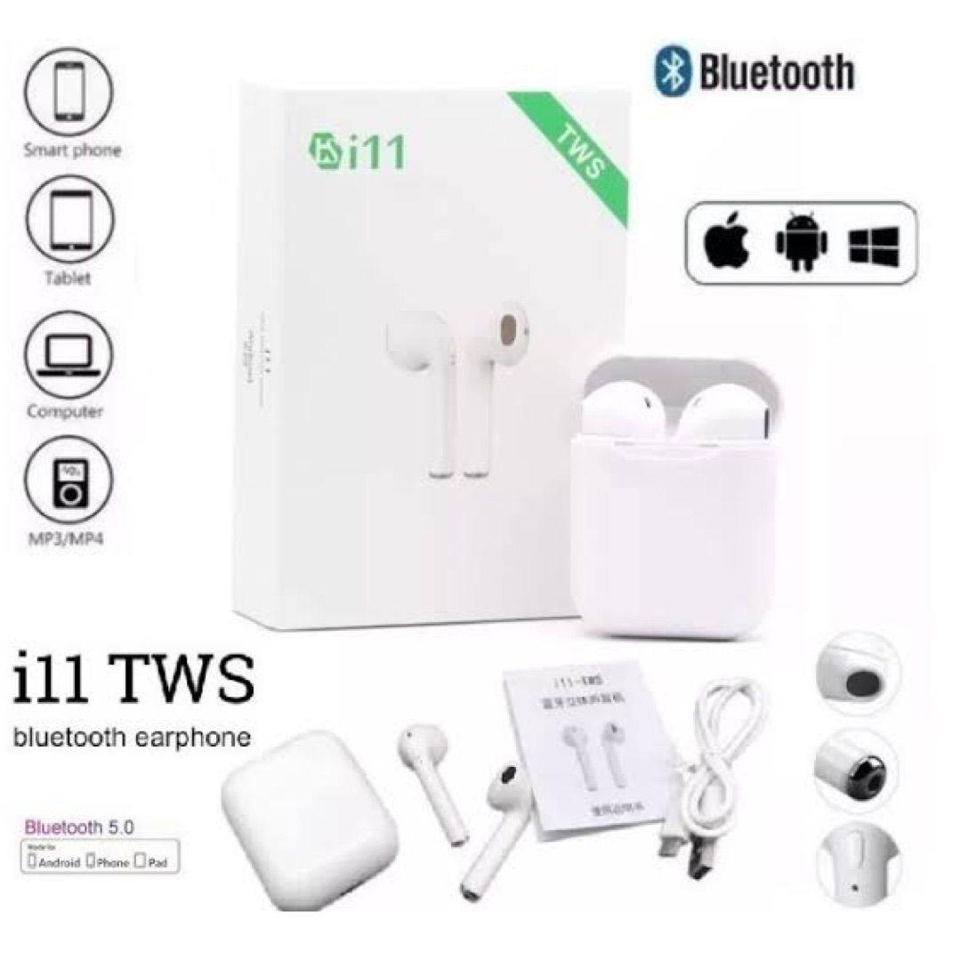 Fone de Ouvido Bluetooth I11 TWS - Sem fio c/ Case - IOS e Android