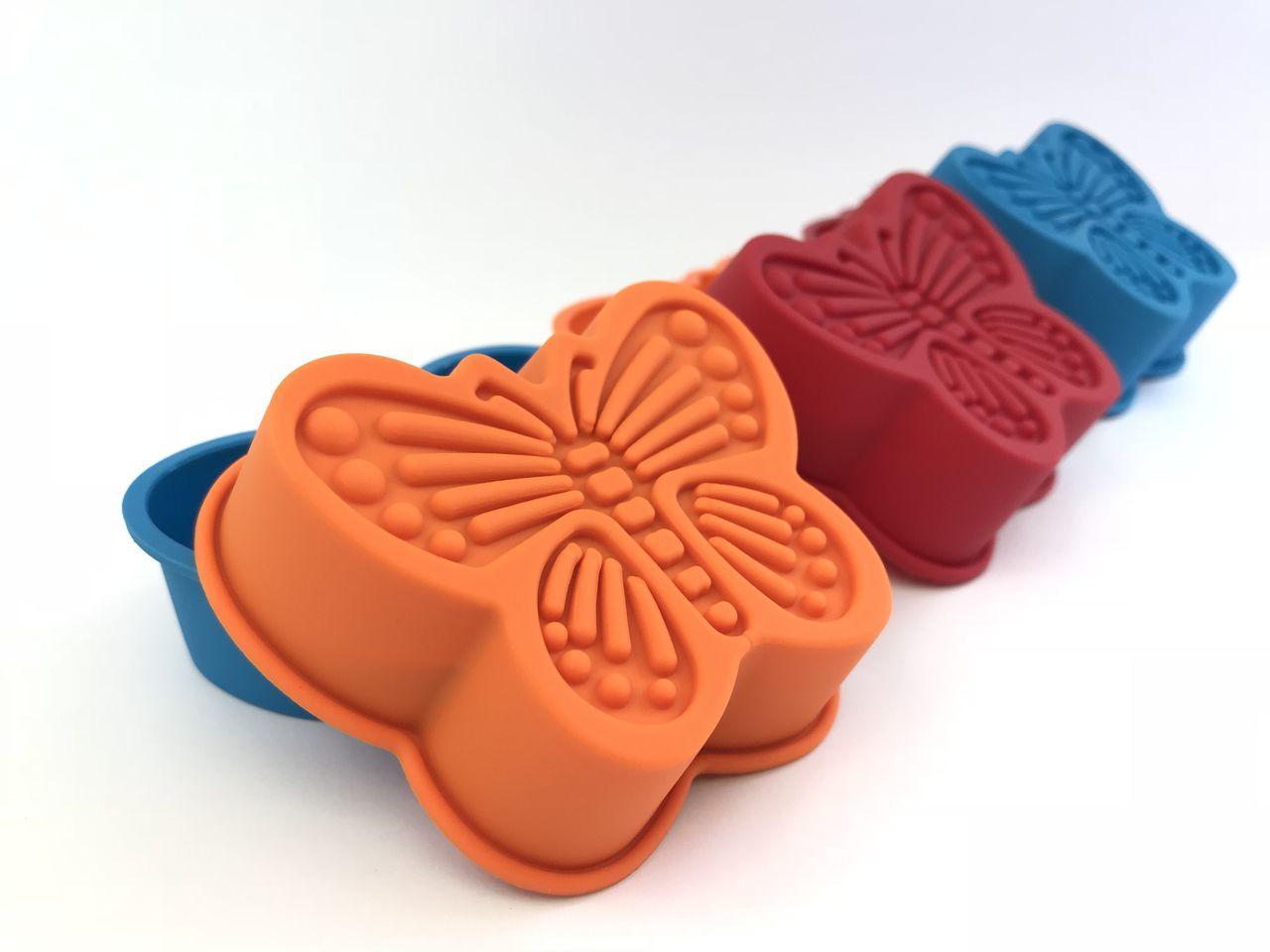 Forma Cupcake Borboleta Antiaderente Em Silicone - Conj. 06 pçs