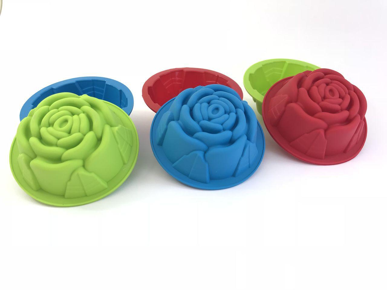 Forma Cupcake Flor Antiaderente Em Silicone - Conj. 06 pçs