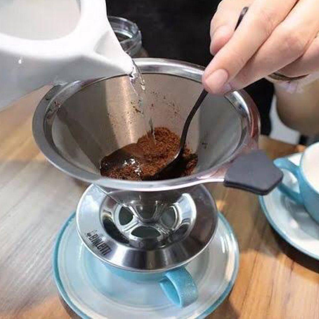 Kit com 04 Coador de Café Inox Reutilizável - Unihome
