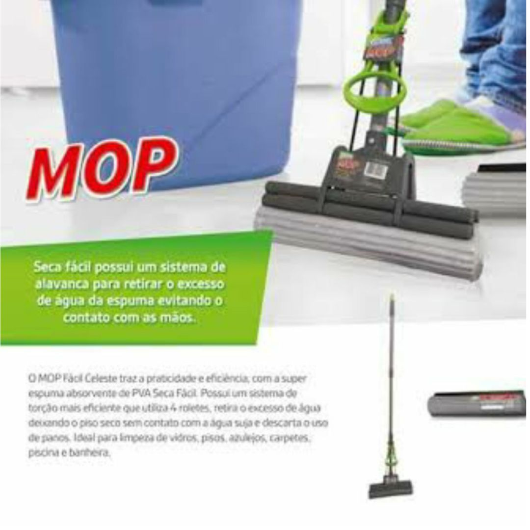 Kit com Mop Spray com reservatório Flash Limp + Mop Facil