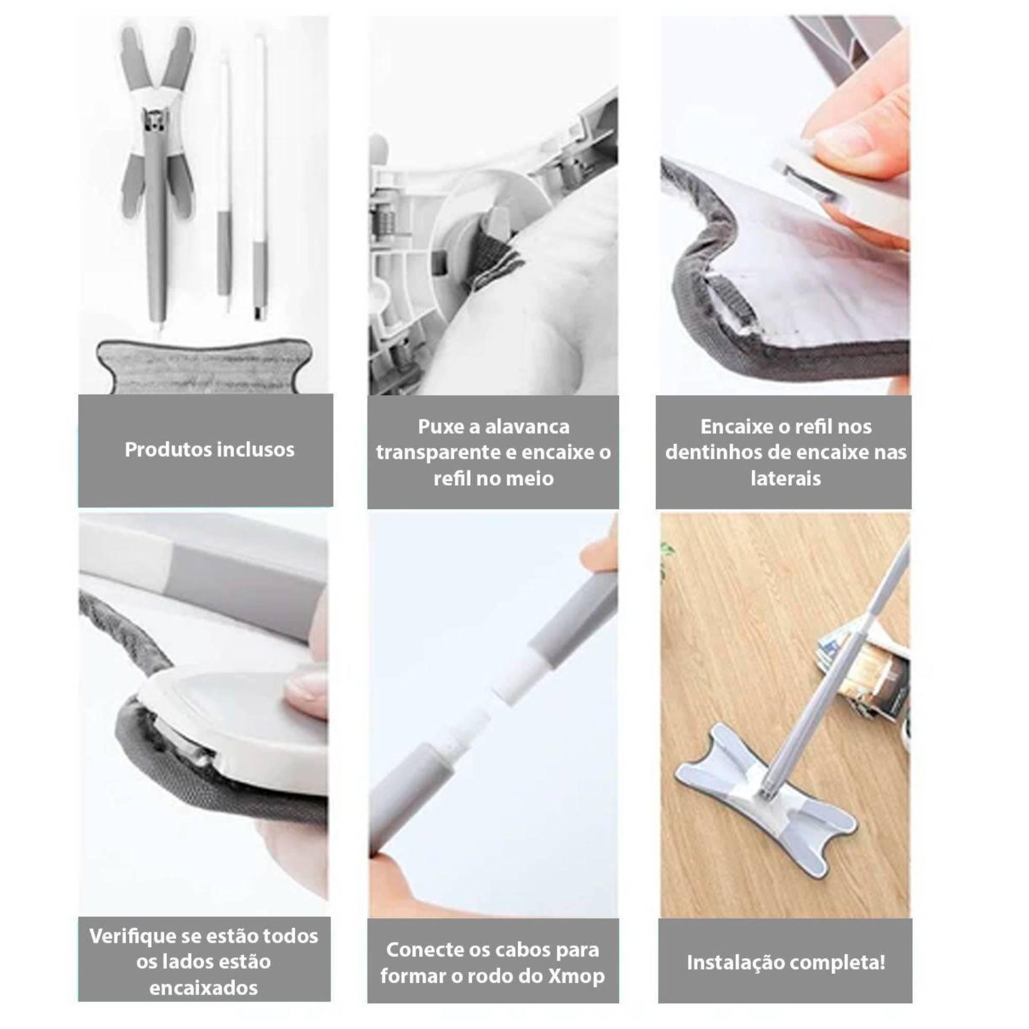 Kit Spray Mop com reservatório e Xmop com torção