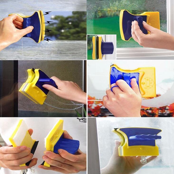 Limpa Vidro Com Imã Magnético Super Rodo