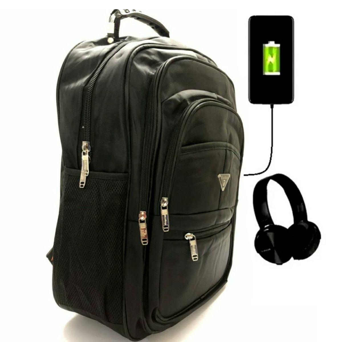 Mochila para Notebook com entrada USB e FONE