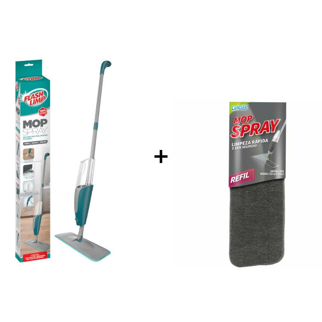 Mop Spray com reservatório - Flash Limp com 1 Refil Extra