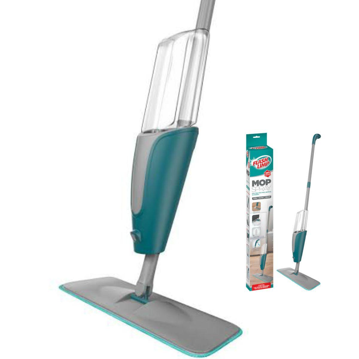 Mop Spray com reservatório - Flash Limp com 2 Refis Extra