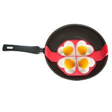 Forma de Silicone 4 cavidades para panquecas omeletes ovos Fritos