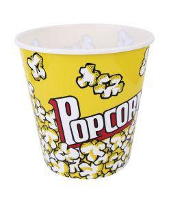 Pote/Balde de Pipoca de Plástico Decorado POPCORN 4,2 LTS
