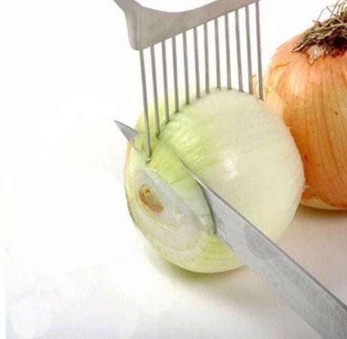 Suporte Garfo para Fatiar Cebola e Tomate