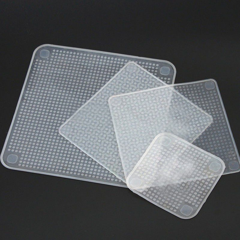 Tampa Tudo Silicone vedador Reutilizável - Kit com 04 unidades