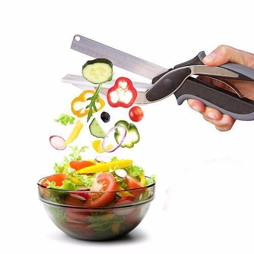 Tesoura Prática Cozinha Clever Cutter Verdura Legumes Carnes