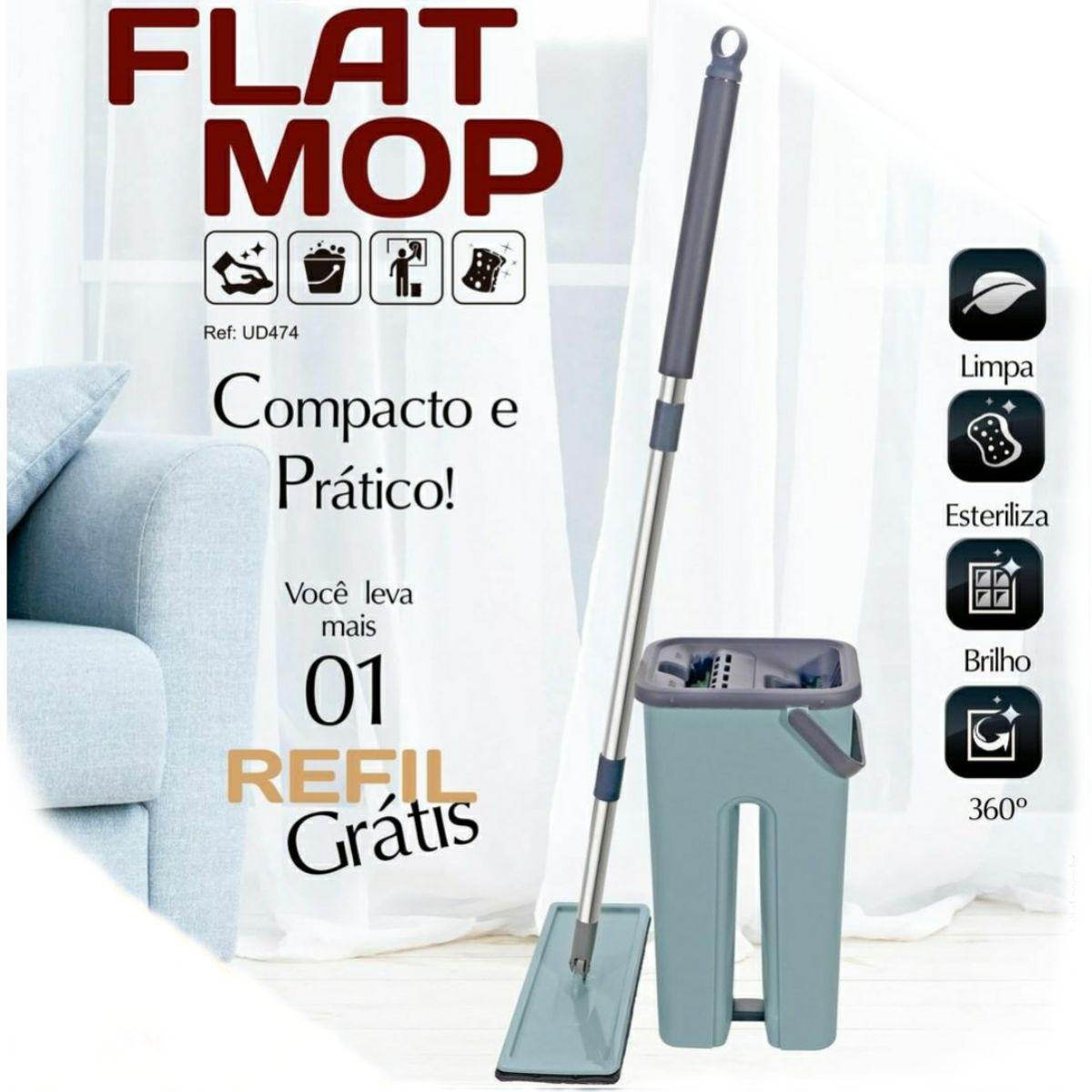 Vassoura Magica 3x1 e Flat Mop Multiuso com 1 refil extra