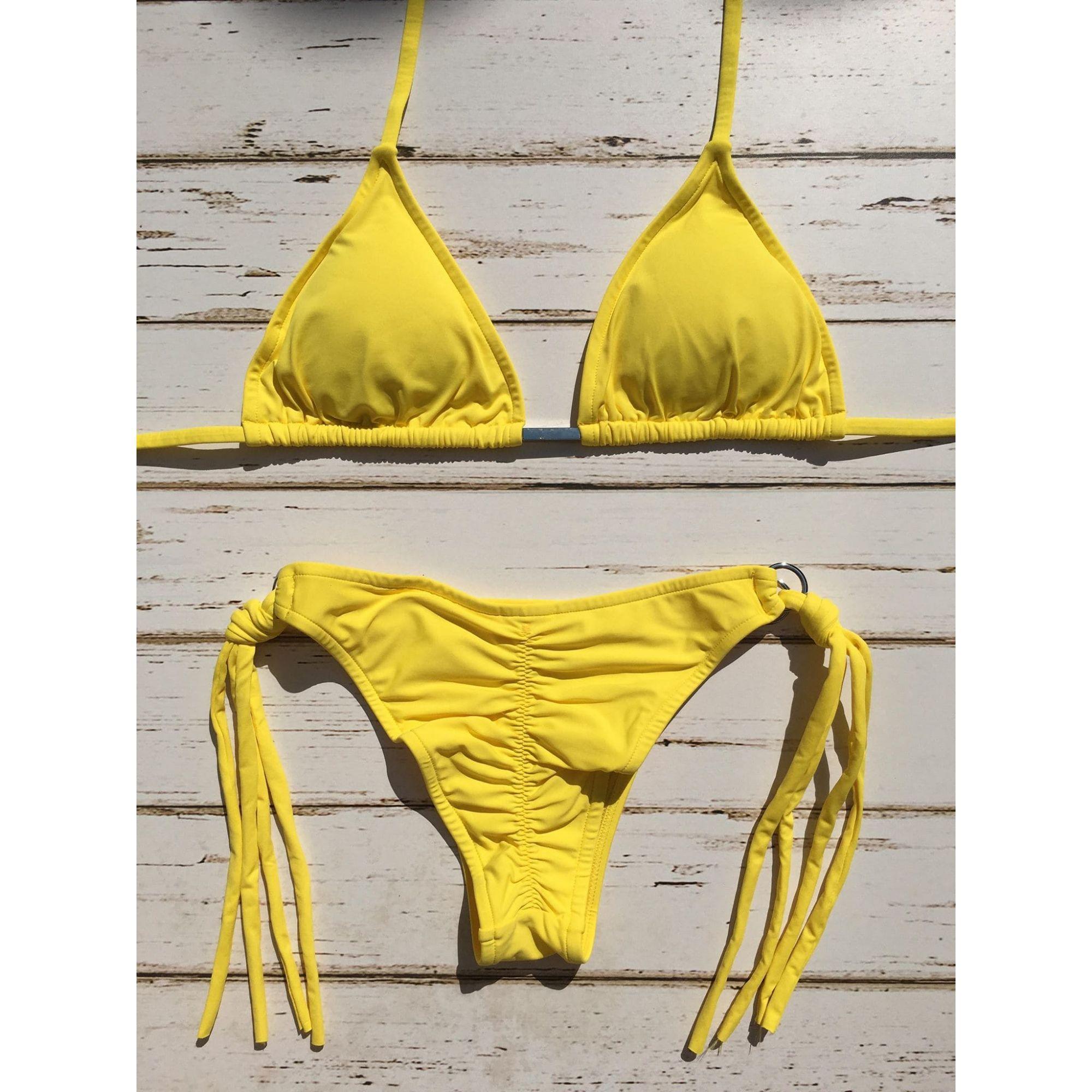 Biquini Lacinho Amarelo