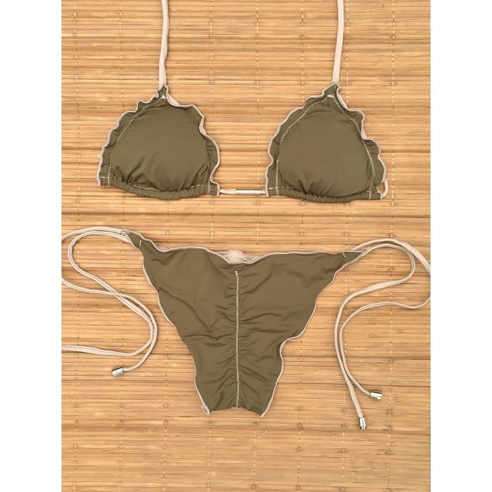 Biquini Ripple Lacinho Militar Nude