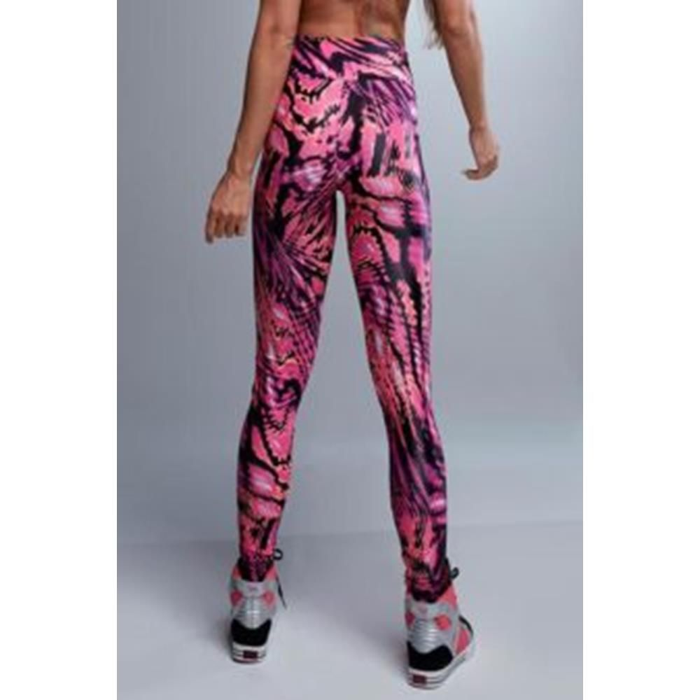 Legging Cirrê Estampada Pink Let´s Gym