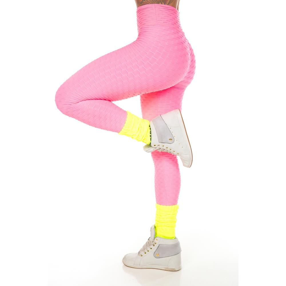 Calça Legging Wave Rosa Let´s Gym