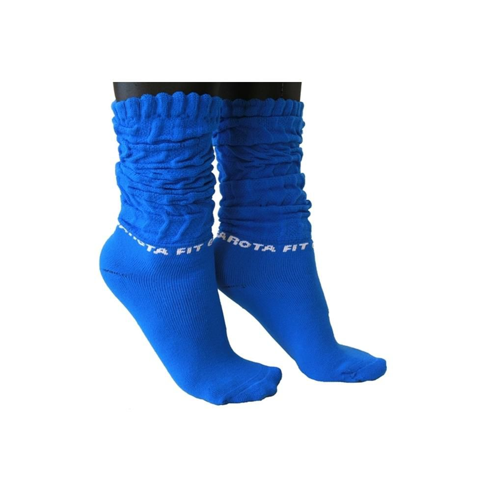 Meia Azul Garota Fit