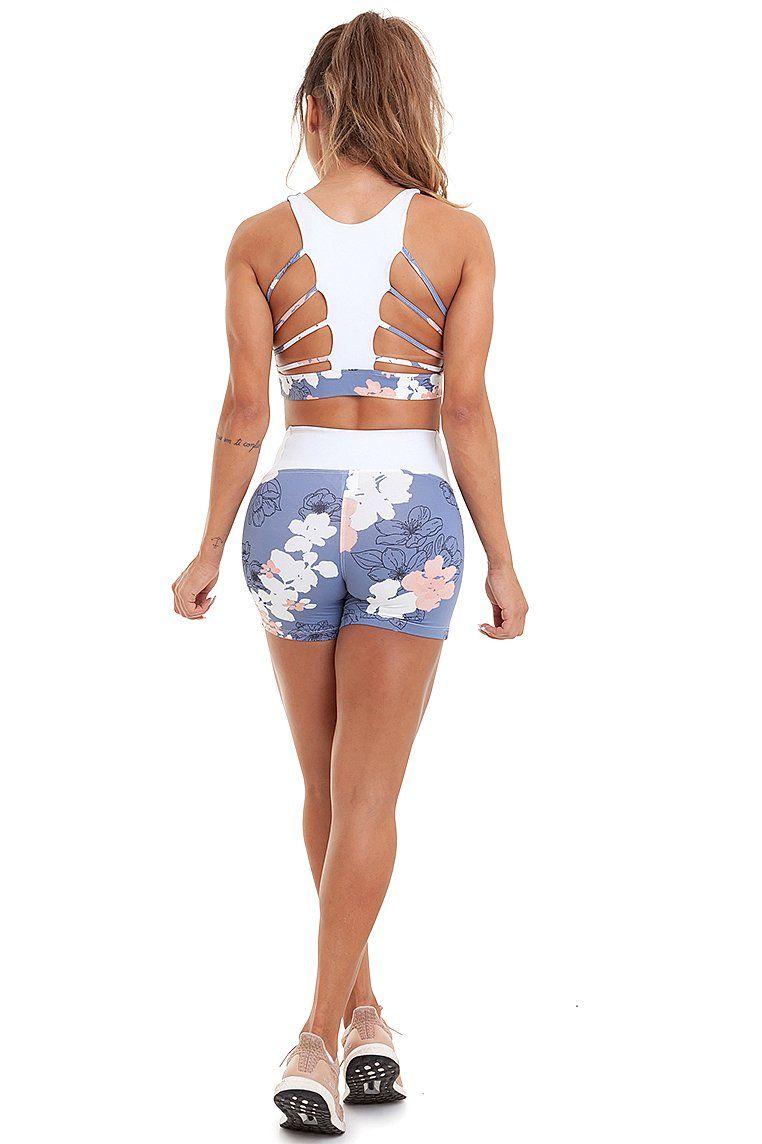 Shorts Kate Azul Garota Fit