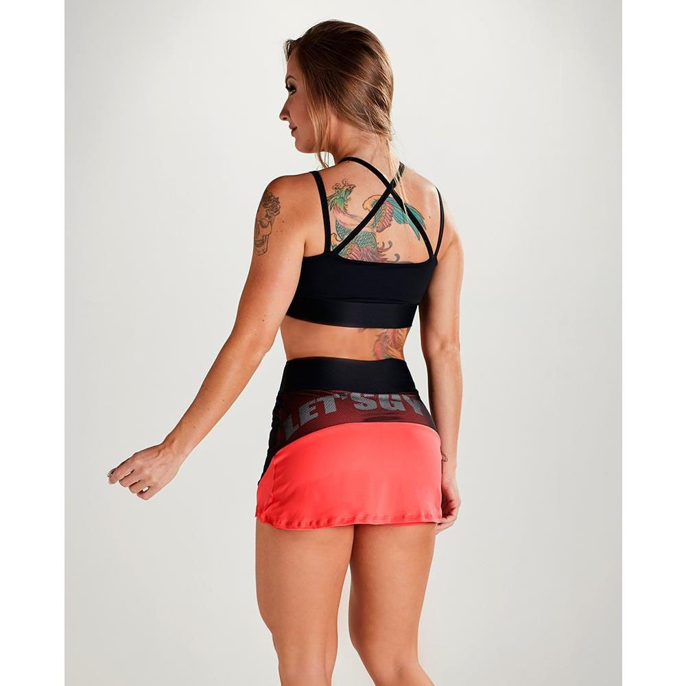 Top Strappy Slim Preto Let´s Gym