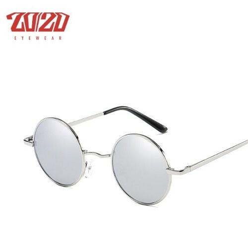 8e75ba188df11 Óculos De Sol Redondo Unisex Polarizado Proteção Uv Silver - LTIMPORTS