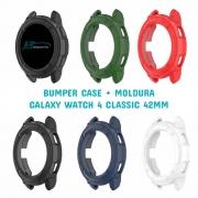 Capa Protetora Bumper Case + Moldura compatível com Samsung Galaxy Watch 4 Classic 42mm SM-R880 / SM-R885