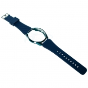 KIT Pulseira + Capa Protetora Bumper compatível com Galaxy Watch 3 45mm (AZUL-INDIGO)