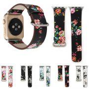 Pulseira Couro Floral compatível com Apple Watch 40mm e 38mm