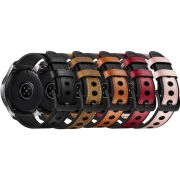 Pulseira 22mm Couro e Borracha compatível com Samsung Galaxy Watch 3 45mm - Galaxy Watch 46mm - Gear S3 Frontier