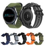 Pulseira 22mm Militar Nylon compatível com Samsung Galaxy Watch 3 45mm - Galaxy Watch 46mm - Gear S3 Frontier - Amazfit GTR 47mm